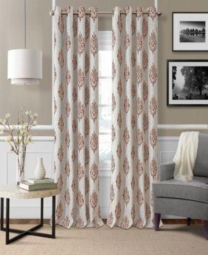 1 pair of curtains  Navara Medallion Room Darkening Window Curtain