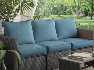 1 seat cushion   1 back cushion ONlY  Sunbrella Denim Blue Indoor Outdoor Deep Seating Denim Cushions