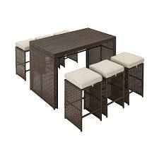 style selections weatherford dining table and 2 chairs no hardware brown
