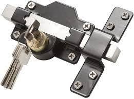 Gatemate 2  50mm long Throw lock  Key lockable From Both Sides  Black  1490186