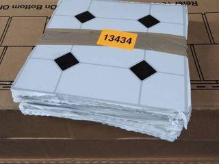 aluminum tiles 1 PKG black and white