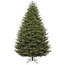 ge Christmas tree just cut pre lit led oakmont spruce white lights