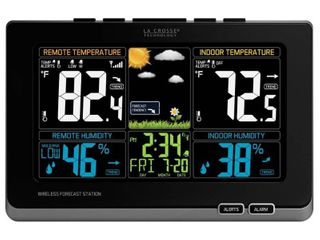 la Crosse Technology 308 1414MB INT Wireless Color Weather Station with Mold Indicator  Black