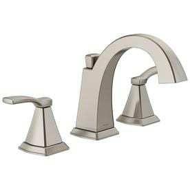 Delta Flynn Brushed Nickel 2 Handle Widespread Bathroom Sink Faucet