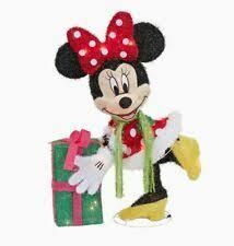 Disney lighted Minnie Mouse Yard Sculpture Pre lit Outdoor Christmas Decor lights up missing ears