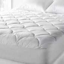 Tommy Bahama 300 Thread Count Cotton Sateen Easy Care Mattress Pad   White