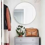 Carson Carrington Salmi Aluminum Alloy Framed Round Mirror