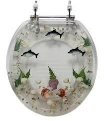 Trimmer Tropical Themed Polyresin Toilet Seat