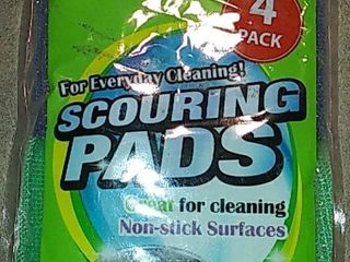 4 Pads   Scouring Pads Multi Color