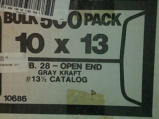 500 Gray Envelopes 10in x 13in