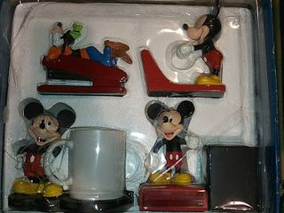 Vintage Mickey Mouse Desk Set  In Factory Box