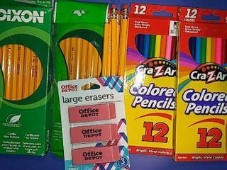 Pencils  Colored Pencils  Earasers