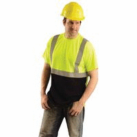 Occunomix lUX SSETP2B YM Classic Standard Wicking Birdseye T Shirt  Medium  Yellow