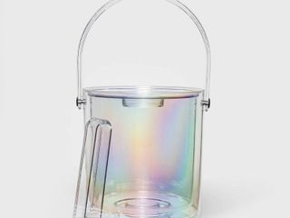 3 1qt Plastic Iridescent Ice Bucket   Sun Squad