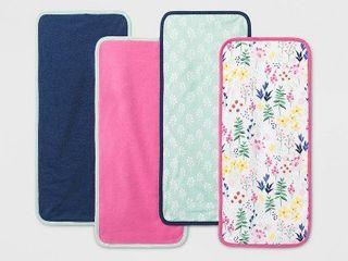 Baby Girls  4pk little Wildflower Burp Cloth Set   Cloud Island One Size  Multi Colored