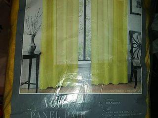 Voila Grommet 2 Panels Yellow Sheer Curtains