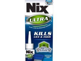 Nix Ultra 2 in 1 Super lice Treatment  3 4 fl oz and lice   Egg Removal Comb   3 4oz