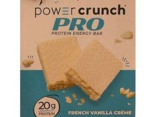 Power Crunch Pro 20g Protein Energy Wafer Bar  4 Bars French Vanilla Creme