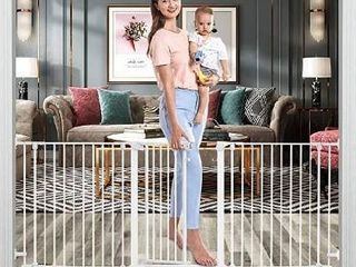 Tokkidas Baby Gate 79 Inch Foldable Extra Wide Walk Thru Baby Gate Auto Close Safety Gate 3 Panel  Include Wall Mounts and Hardware