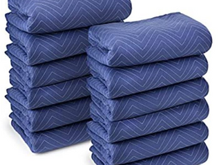 uBoxes Economy Moving Blankets  12 Pack  35lbs doz 2 92lb Ea 72  x 80  Color May Vary   Not Inspected