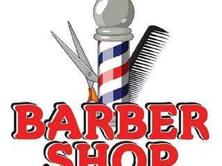 Barber Shop 12  Concession Decal Sign cart Trailer Stand Sticker Equipment