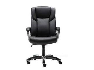 AmazonBasics High Back Bonded leather Executive Office Computer Desk Chair   Brown