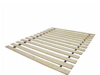 Continental Sleep 0 75 Inch Standard Mattress Support Wooden Bunkie Board Slats  Queen  Beige   Not Inspected