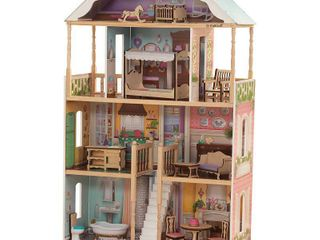 KidKraft Charlotte Dollhouse with EZ Kraft Assembly with 14 accessories included   Not Inspected