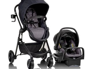 Evenflo Pivot Modular Travel System with SafeMax Infant Car Seat   Casual Gray   Not Inspected