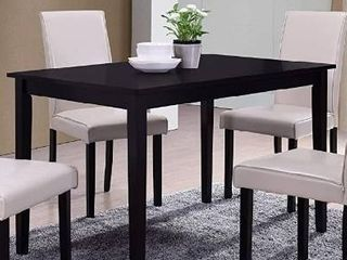 Best Master Furniture Melissa Transitional Dining Table Only Black