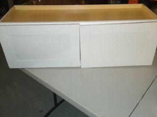 35  l x 12  D x 12  W   White Kitchen Cabinet   White