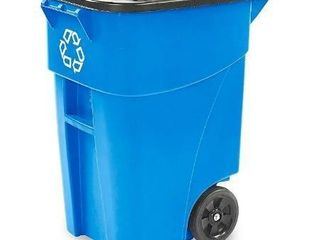 Rubbermaid Commercial Products Heavy Duty Brute Rollout Trash Can  50 Gallon