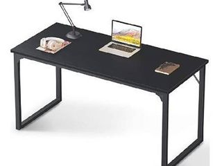 Coleshome Computer Desk 55  Modern Simple Style Desk for Home Office  Sturdy Writing Desk Black