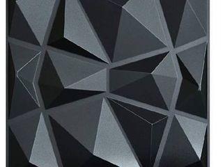 Art3d 3D Paneling Textured 3D Wall Design  Black Diamond  19 7  x 19 7   12 Pack