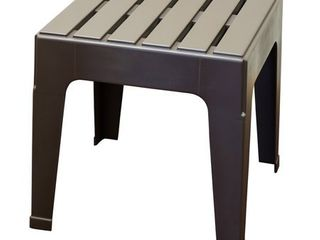 Adams Big Easy Square Brown Polypropylene Stackable Side Table Set of 2
