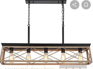 HMVPl Farmhouse Swag Chandeliers  5 lights Industrial Pendant lighting Fixtures  Hanging Ceiling Island light for Kitchen Dining Room Bedroom Hallway Front Door   Not Inspected
