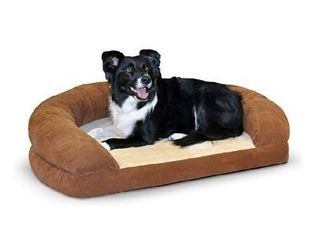 K H PET PRODUCTS Ortho Bolster Sleeper Orthopedic Dog Bed large Brown