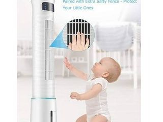 COMFYHOME 2 in 1 43  Evaporative Air Cooler   Tower Fan w Cooling   Humidification Function  4l Water Tank  3 Wind Speeds  4 Modes  70AA Oscillation  15H Timer  Digital lED Display  Remote Control
