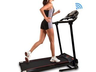 Serenelife SlFTRD18   Smart Folding Compact Treadmill with Downloadable App   Bluetooth connectivity