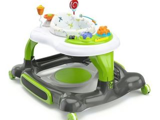 Storkcraft 3 in 1 Activity Center Walker and Rocker with Jumping Board and Feeding Tray Green