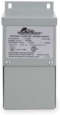 Acme Electric T279742S low Voltage Distribution Transformer  Single Phase  120 208 240 277 Primary Volts   120 240 Secondary Volts  2 kVA