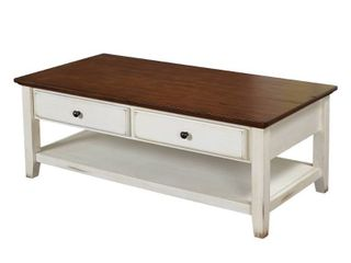 Charleston Coffee Table Off White Chestnut   Buylateral
