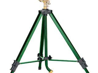 Orbit 58308Z Brass Impact Sprinkler on Tripod Base  Green  USED