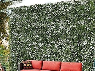 ColourTree 4  x 10  Artificial Hedges Faux Ivy leaves Fence Privacy Screen Cover Panels AaADecorative Trellis   Mesh Backing