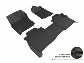 3D MAXpider All Weather Floor Mats for Nissan Titan Crew Cab 2016 2017 2018 2019  with Storage Box  Custom Fit Car Floor liners  Kagu Series  1st   2nd Row  Black