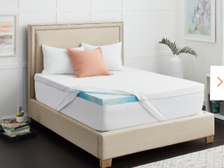 lINENSPA 3 Inch Gel Infused Memory Foam Mattress Topper   California King   Not Inspected   Topper Only