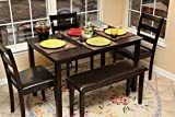 Home life 150232 life Home 5pc Dining Dinette Table Chairs   Bench Set Espresso Brown   Not Inspected