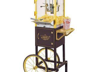 Nostalgia CCP510BK 53 In  Vintage 8 Oz  Commercial Popcorn Cart