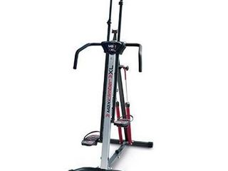 MaxiClimber Xl 2000 Hydraulic Resistance Vertical Climber  Combines Muscle Toning   Aerobic Exercise for Maximum Calorie Burn  12 Resistance levels  lightweight Aluminum Mainframe  Free Fitness App