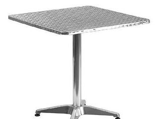 Flash Furniture 27 5  Square Aluminum Indoor Outdoor Table with Base